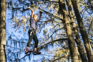 What better way to enjoy this beautiful fall weather than by soaring above the Museum on our Tree to Tree Adventures Ziplining and Aerial Obstacle Course!  #TallahasseeMuseum #TallahasseeFl #iHeartTally #ExploreFL #LoveFL #Museum #LiveMuseum #FamilyVacation  #Ziplining #TreeToTree