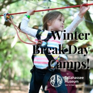 The Tallahassee Museum will be holding Winter Break Day Camps on December 21-December 23, December 28-30th, and January 4th! There's still time to register for these fun-filled days!  More info here: https://tallahasseemuseum.org/education/for-children/school-break-camps/  #TallahasseeMuseum #TallahasseeFl #iHeartTally #ExploreFL #LoveFL #Museum #LiveMuseum #TallahasseeCamp #WinterBreakCamp #Fun4KidsTally