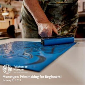 Have you ever wanted to learn the basics of printmaking? You can next Saturday! This class will teach you all about the historic craft while creating your very own monoprint!  Learn more and register here: https://tallahasseemuseum.org/events/monotype-printmaking-for-beginners/  #TallahasseeMuseum #TallahasseeFl #iHeartTally #ExploreFL #LoveFL #Museum #LiveMuseum #Monoprinting #Monoprint #Printmaking